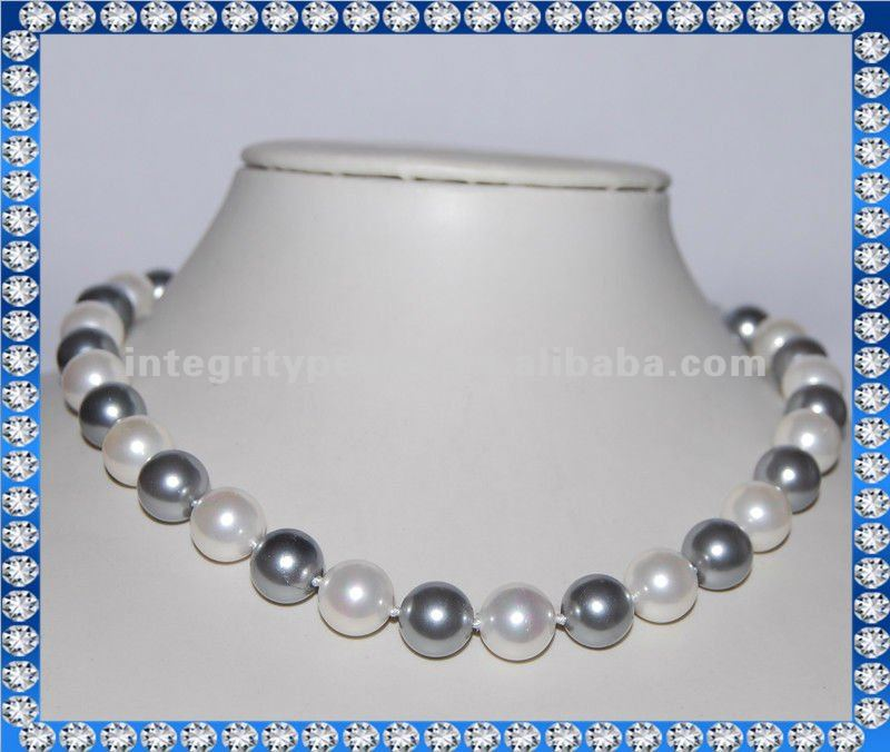 Hot selling shell pearl beaded necklace