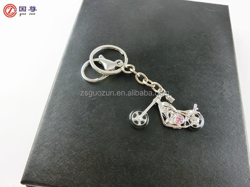 Luxury motorbike/motorcycle shaped with diamond keychain/ keyring/ key finder