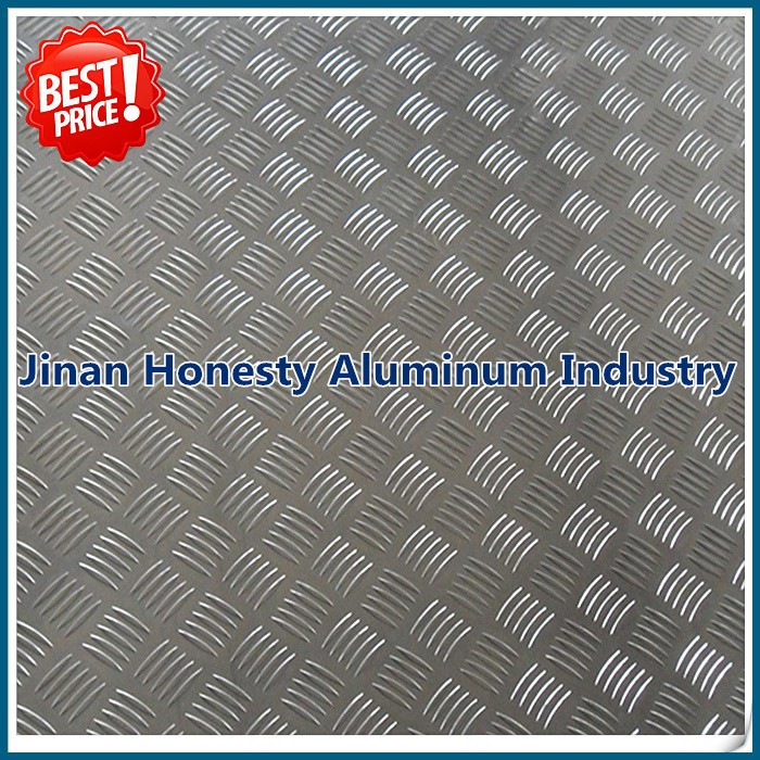Aluminum Tread Plate/Coil 5 bar Chequered embossed Sheet Plate