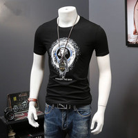 Custom Design Your Own Print Mens 100% Cotton Jersey Slim fit Black T Shirts