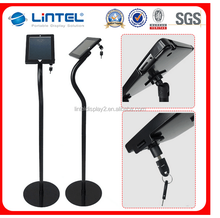 telescopic lockable security ipad display stand