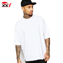 men garments heavy cotton t shirts white plain t-shirts cheap wholesale oversize fit half sleeve t shirt