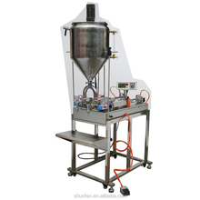 Full Pneumatic Grease Filling Machine with Heater, Stirrer and table, double head (heated cream filler with mixer and table)