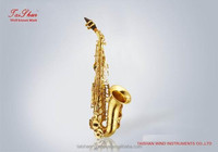 soprano sax with curved brass bell