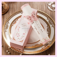 New design good quality paper Elegant bulk wholesale round napkin ring table decorations wedding baby shower favor invitaion