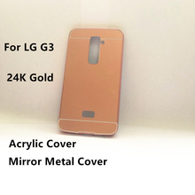 Aluminum Ultra-thin Mirror Metal Bumper Phone Hard Cover Case For LG G2