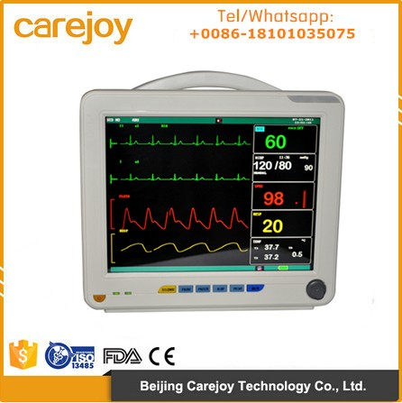 On sale multi parameter 12 inch Patient Monitor Wifi ETCO2 IBP trolley optional