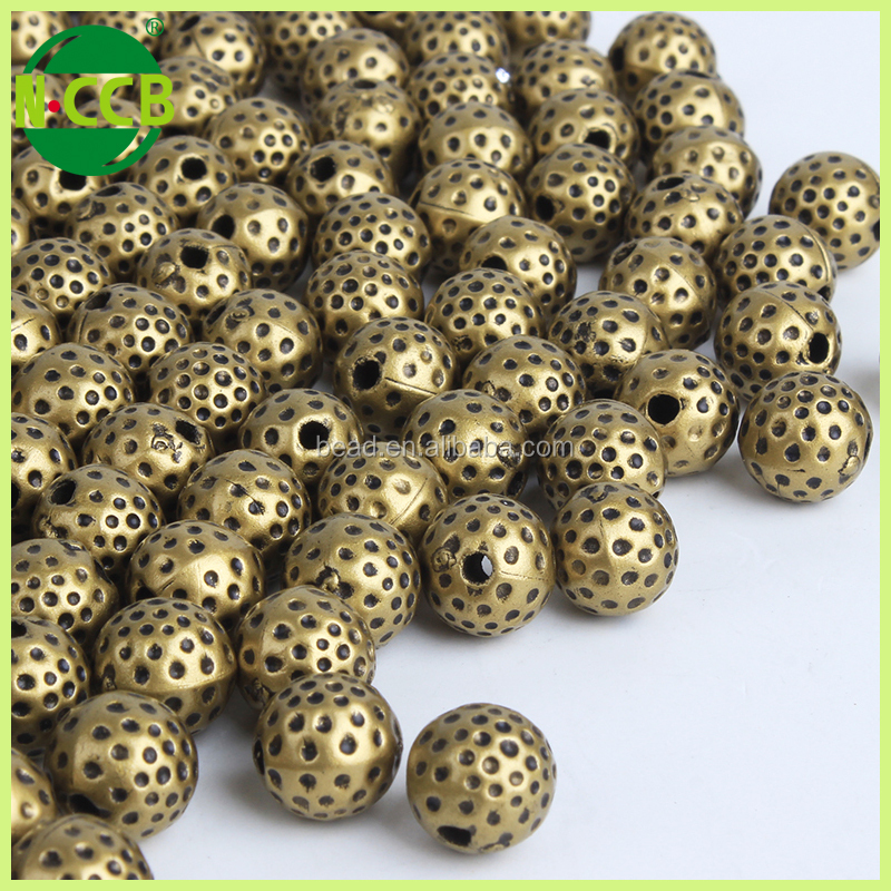 fashion jewelry Diy large hole round 5mm abs beads