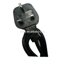 High quality 110v UK standard 3pin AC power cable