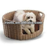 aluminum frame poly rattan dog/cat bed