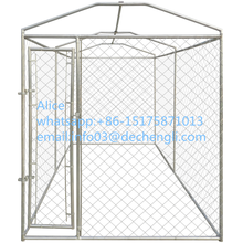 canopy top Dog Home Modular Heavy-duty Galvanized Steel Frame Chain Link Kennel