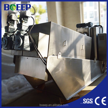High capacity sludge dewatering machine for food processing sewage treatment