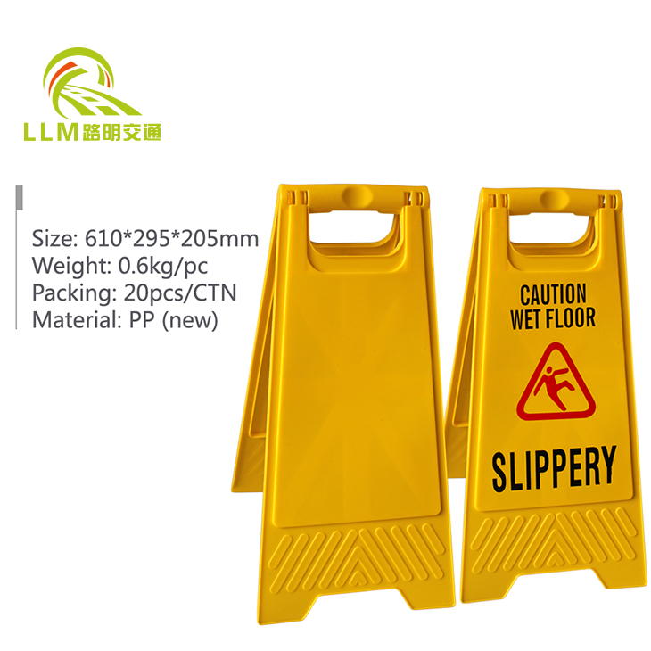 Plastic warning sign roadway safety caution sign caution overhead work area sign
