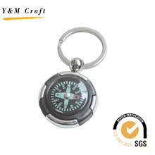 Cheap Elegant Custom Print Logo Business Usa Souvenir Compass Keychain