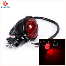 ZJMOTO High Quality Steel Black Cafe Racer Style Motorcycle Adjustable LED Tail Light For Sale
