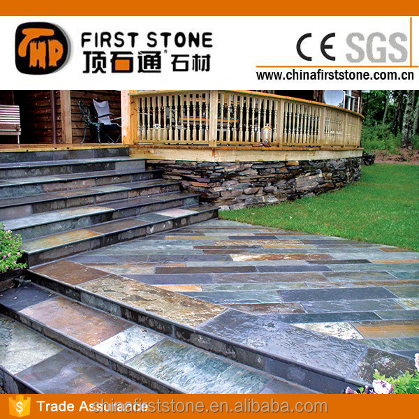 JX-RUST Slate Outdoor Steps
