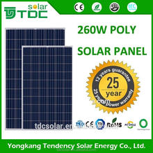 Hot sell panal 260w poly panneaux solaires for solar system