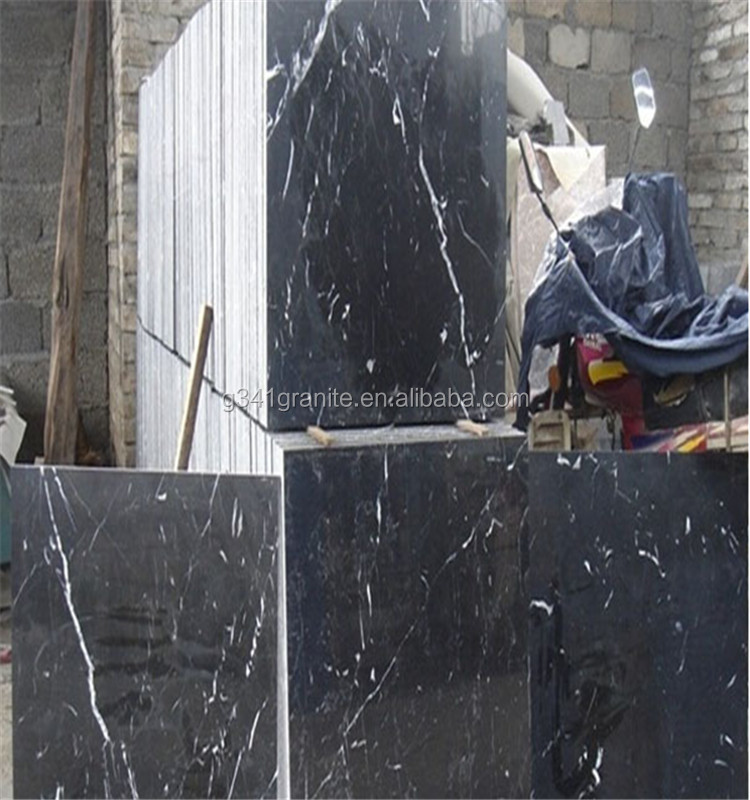 Hot sale marble honed nero marquina black marble tile marble stone block