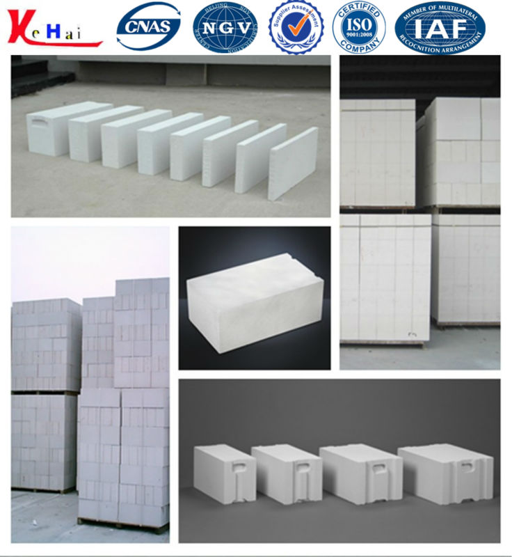 Fly Ash Lightweight Autoclaved Aerated Concrete Block Making Machine