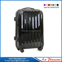 Decent pure PC luggage trolley bag/ small trolley luggage with 8 universal wheels