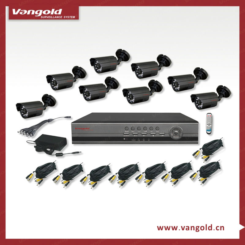 2013 CCTV Security 8CH H.264 Network Standalone DVR Kit with Mobile Phone Remote View (VG-H7408JK-B)