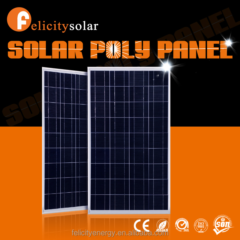 Felicitysolar china supplier high quality 100w poly cheapest round mounting solar panel
