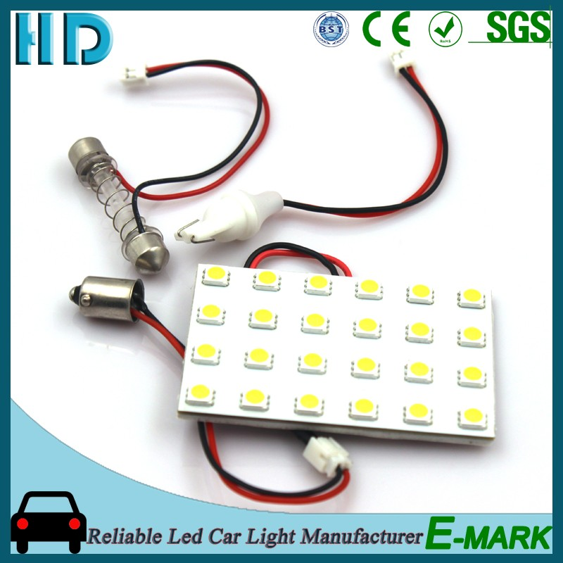 24SMD 5050 12V ba9s car led light interior lamp auto festoon dome light