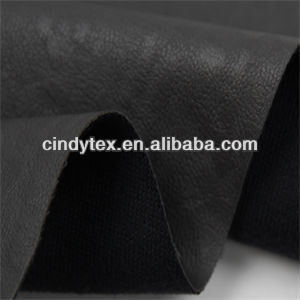 0.8mm black drapery rayon polyester cow pu nonwoven artificial leather