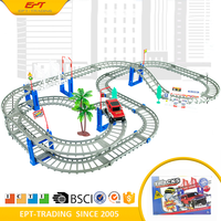 Top quality electronic high speed magic track car toy for kids