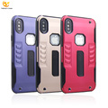 New Product TPU Aluminum Metal Armor Back Cover for iPhone X Hard Case