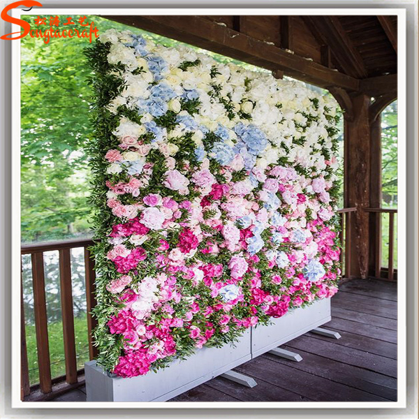 Customized Artificial Flower Wall Art Fake Fabric Flower For Wedding  Decoration