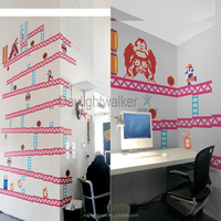 N012 donkey kong home diy nursery decor transparent non-toxic wall sticker