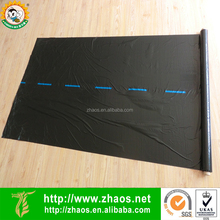 PE black agriculture mulch film with center line