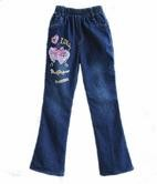 Fashion baby denim pants clothing loose autumn long trouser baby jeans pant for girls