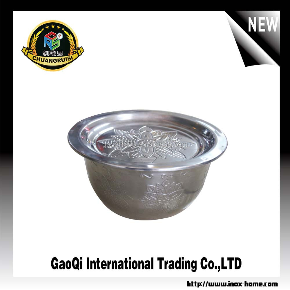 Africa stainless steel washing bowl / kitchen wash basin with embossing design