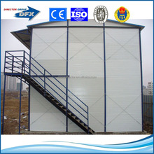 insulated eco-friendly steel frame modular homes/prefabricated house, labour camp