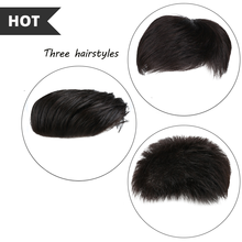 Natural Black Human hair full lace wigs Multiple Styles Toupee human hair for Men Top Hair Closures Lace Inner Cap with Fixed Cl