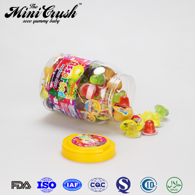 High quality jelly litafood Assorted fruit flavor jelly bean balls