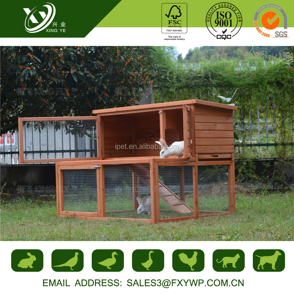 China the cheapest easily clean flat pack rabbit hutch for wholesale