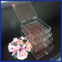 Yageli container store acrylic makeup organizer / acrylic makeup organizer with handle