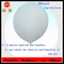 Yiwu Industrial Wholesale White 36Inch Self Inflating Inflatable Rubber Balloon For weather