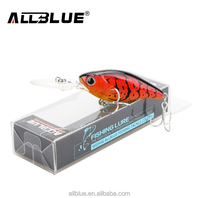ALLBULE AB01 Best Quality 50mm 8.2g Hard Fishing Lures Crankbait 3m Suspend Wobblers Best Crank Hard Bait for Bass Pike