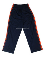 Professional manufacturer from Jiangxi,China produces tricot sports boys trousers 100%polyester tricot, 200g,brushed inside