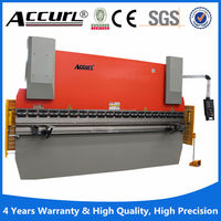 Accurl brand 100Tons and 4 meters hydraulic sheet metal press brake machine with safety fence