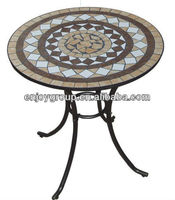 Mosaic Garden Table Patterns Prevailed in UK Mosaic Round Garden Table