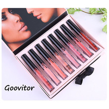 2017 Hot Brand 8pcs Lip Kit Long Lasting Lipgloss Liquid Matte Lipstick Set