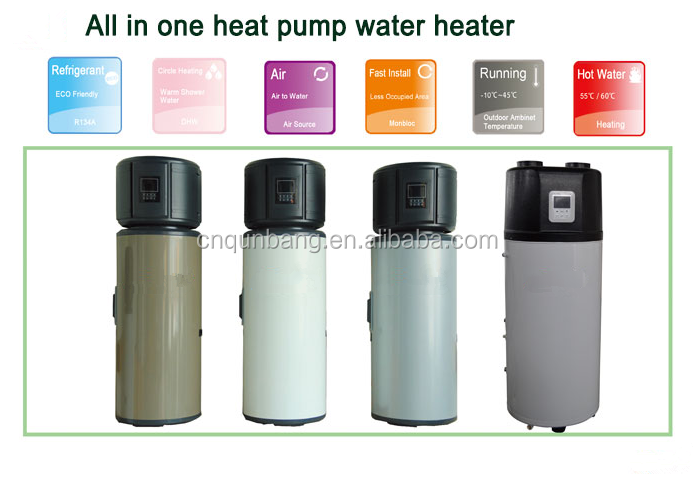Air Source Heat Pump bathroom kitchen used water heating system all in one heat pump (CE, SASO,CSA)