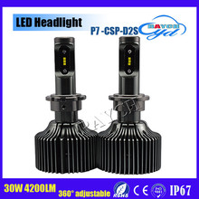H7 H8 H10 H11 H16 5202 9005 9006 9012 D1/D2/D3/D4 high lumens high power 30w auto h7 led headlight for car