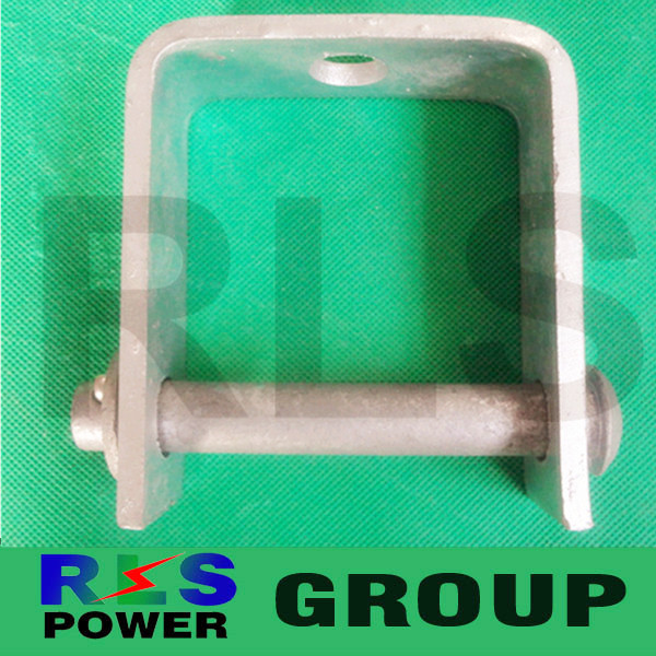 Stainless steel galvanized D Iron D Bracket with bolts and nuts for Power Line Accessories