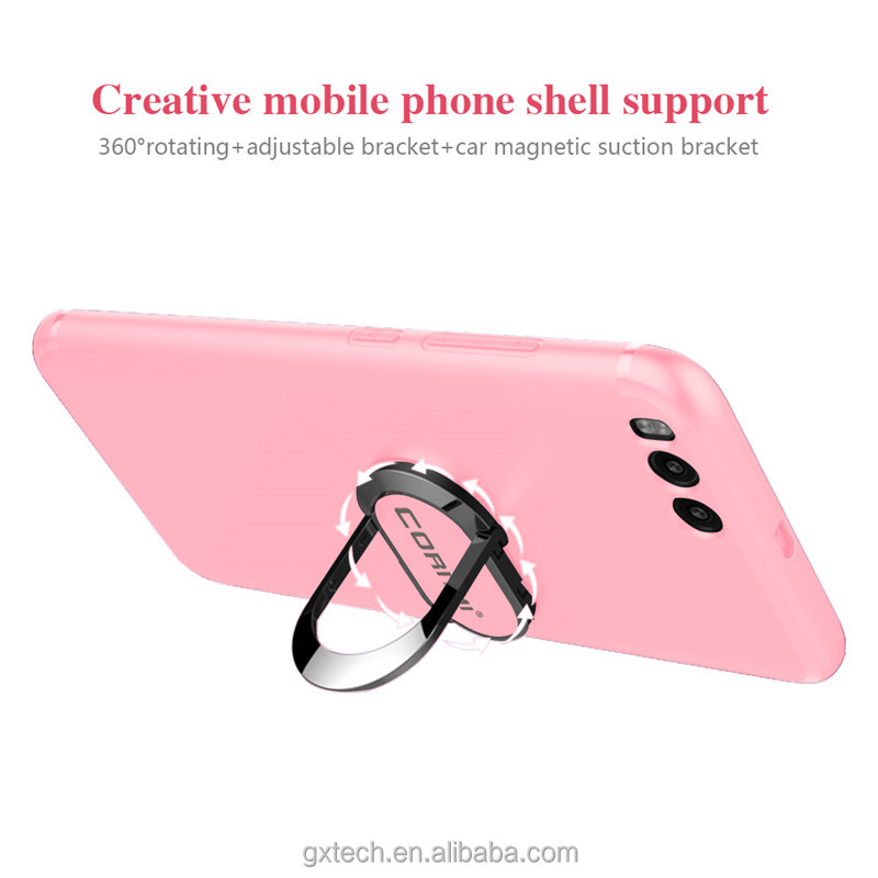 China Factory Soft TPU Cover Phone Case For Xiaomi Mi 6 With 360 Degree Rotating Ring Holder